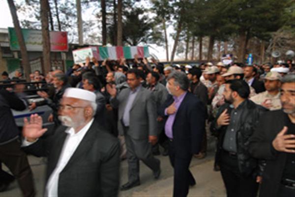 برگزاری مراسم تشییع باشکوه شهید گمنام در شهرستان نهبندان
